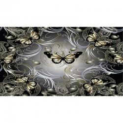 3D настилка за декорация на баня – пеперуди