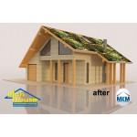 3D декор настилка за покрив – нефигурална цветна