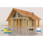 3D декор настилка за покрив – правоъгълни рамки