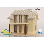 3D декор настилка за покрив – абстракт