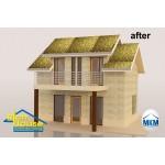 3D декор настилка за покрив – златисти флорали