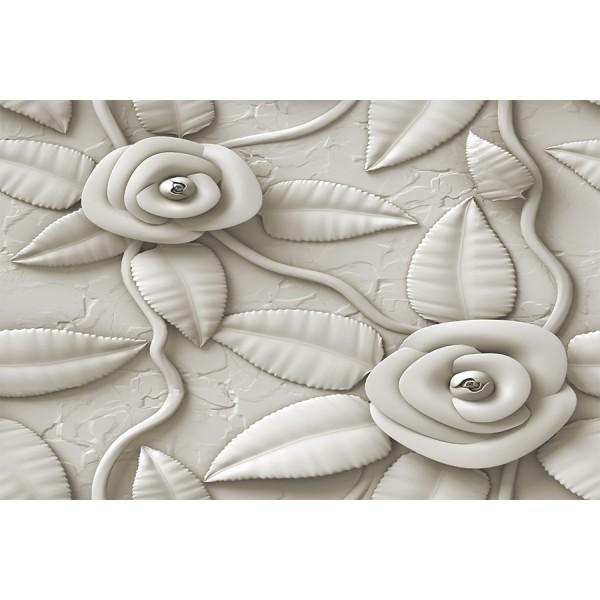 3D декор настилка за покрив – бели рози