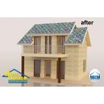 3D декор настилка за покрив – цветни фигури