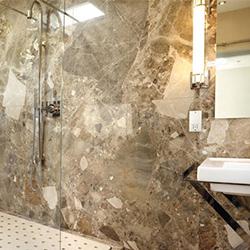 Гранитогресни плочки за баня в естествена финитура – минимализъм