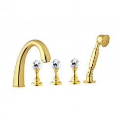 Смесител за вана златен цвят – Crystal CY4491DO