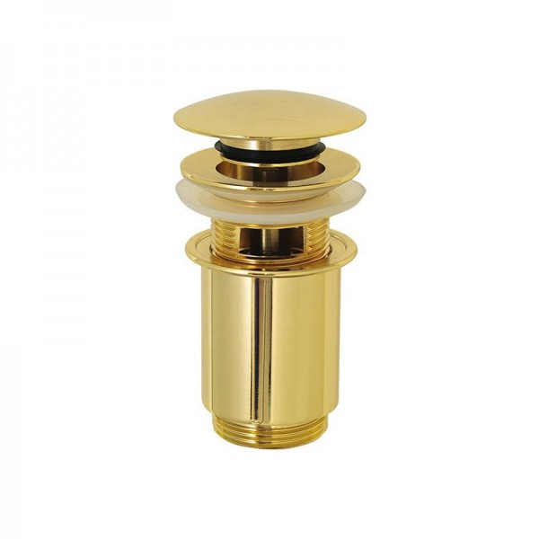 Автоматичен клик сифон с преливник (златен) – Crystal A735DO