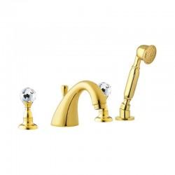 Стоящ луксозен смесител за вана / душ Crystal CY4492DO