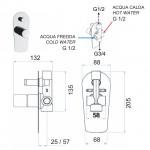 Смесител за вграждане за душ и вана  –  Fusion FU612