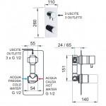 Трипътен смесител за вграждане – Fusion FU612D3