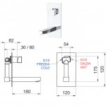 Стоящ смесител за умивалник (за вграждане) – Oxy OX23634