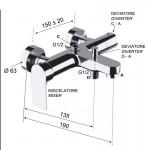 Смесител за душ / вана носеща част TA600DH