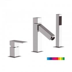 Смесител за вана с ръчен душ и LED светлина – Daniel (Италия)