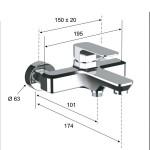 TA600H - Смесител за вана/душ