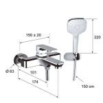 TA610 - Смесител за вана/душ