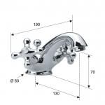 Смесител за мивка нисък ретро дизайн – Revival V5112