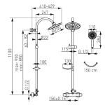 Душ комплект с термостатен смесител – модел Trinity – FERRO