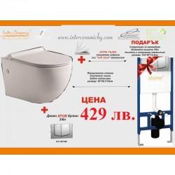 Структура за вграждане с овална WC чиния на Inter Ceramic