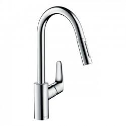 Смесител за кухня с изтеглящ се душ – Focus 320 (Hansgrohe)