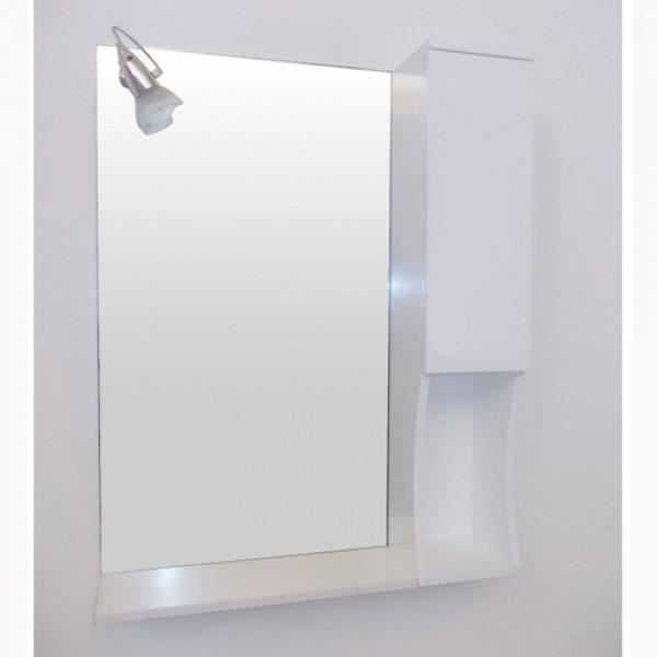Горен шкаф за баня от PVC и огледало  ICMC 1050-75V