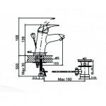 Смесител за мивка в банята – ICF 1109022