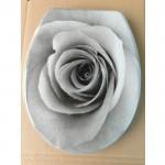 Антибактериална тоалетна седалка ДУРОПЛАСТ принт роза