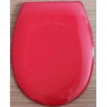 Червена тоалетна седалка от ДУРОПЛАСТ