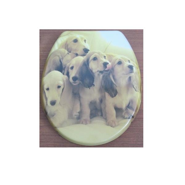 Антибактериална тоалетна седалка ДУРОПЛАСТ принт кученца