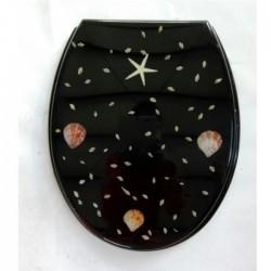 Седалка за тоалетна чиния ПОЛИРЕЗИН декор морски мотиви