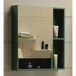 Зелен горен огледален PVC шкаф за баня – Интер Керамик