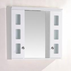 Горен огледален шкаф PVC и LED – Интер Керамик
