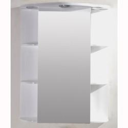 Огледален PVC горен бял шкаф за баня – Интер Керамик