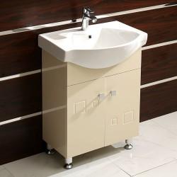 Стоящ бежов шкаф за баня от PVC