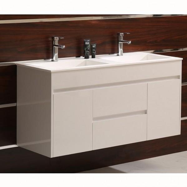 """PVC шкаф за баня с двойна мивка """"ЕВА"""""""