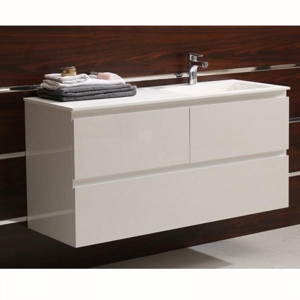 PVC шкаф за баня с голям плот и мивка ICP 12038 R/L