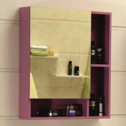 Лилав горен огледален PVC шкаф за баня – Интер Керамик