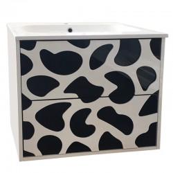 Стенен шкаф за баня декориран ICP 60615B