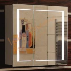 Огледален PVC шкаф за баня LED светлина – Интер Керамик