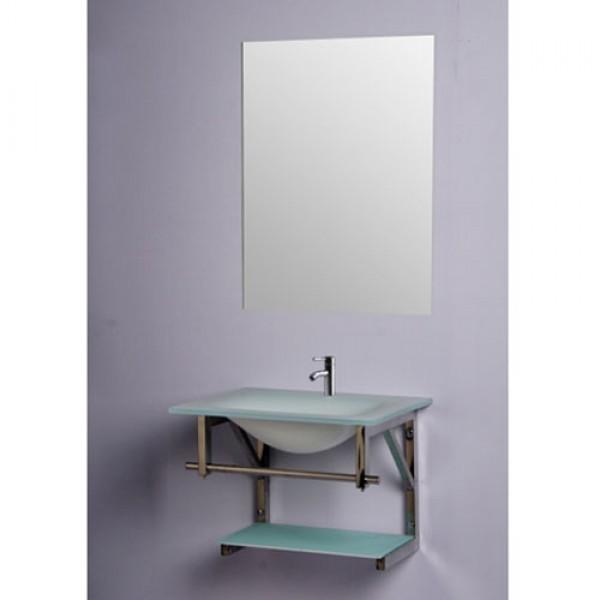 Комплект за баня със стъклен умивалник