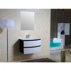 Шкаф за баня PVC – бяло и черно модел ICP 8055В
