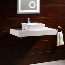 Бял плот за баня от PVC – модел ICP 8012W