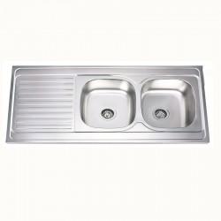 Двойна кухненска мивка алпака БОРДОВА – Интер Керамик