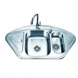Кухненска мивка от алпака двойна ICK SSU10255F – Интер Керамик