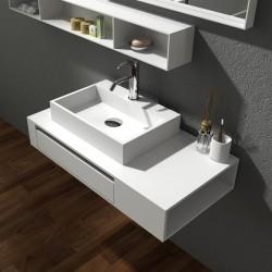 Бял шкаф за баня от камък