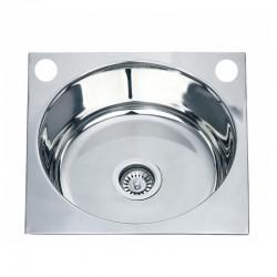 Квадратна кухненска мивка алпака ICK D4545P – Интер Керамик