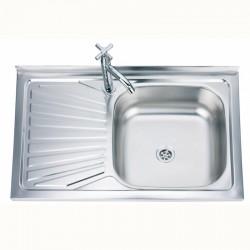 Кухненска мивка алпака с плот (ляв или десен) – Интер Керамик