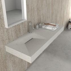 Умивалник за стенен монтаж от камък