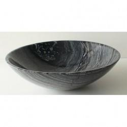 Черна мивка за баня от варовик полусфера – ICL 4013