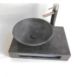 Плот с монтирана мивка черен варовик ICL 5842BL