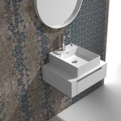 Мебел за баня сет шкаф и бяла мивка –  ICP 6029/38338W
