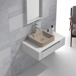 Мебел за баня сет шкаф и каменна мивка – ICP 8029/3861C